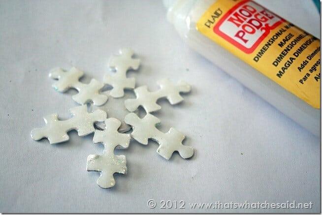 Dimensional Magic on snowflake ornament