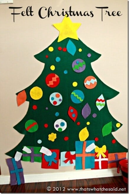Christmas Tree Craft.Children S Felt Christmas Tree That S What Said