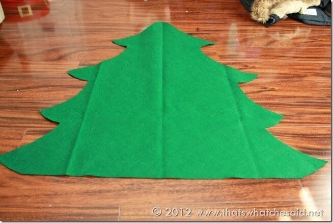 How to Make a Felt Christmas Tree