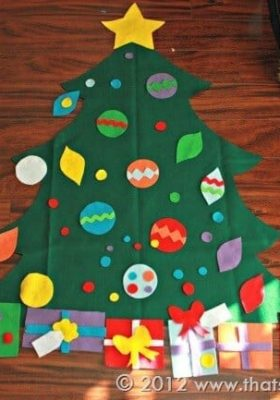 Toddler Felt Christmas Tree Templates + SVG Cut Files