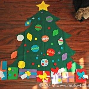 Toddler Felt Christmas Tree Templates + SVG Cut Files