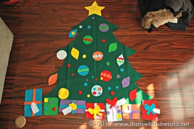 Felt Christmas Tree Patterns & Cut Files