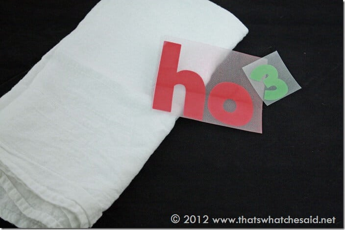 Flour Sack Towel and Heat Transfers