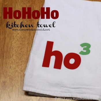 Ho Ho Ho Kitchen Towel