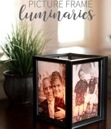 Picture Frame Luminary tutorial