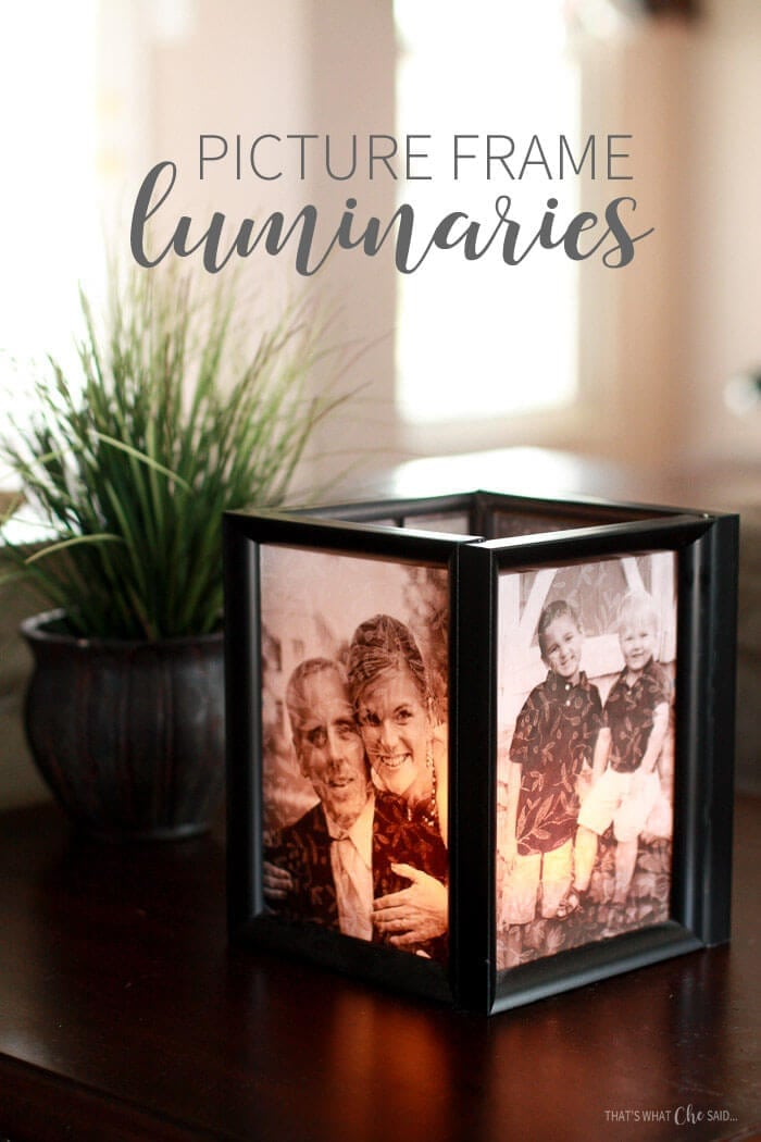Picture Frame Luminaries tutorial