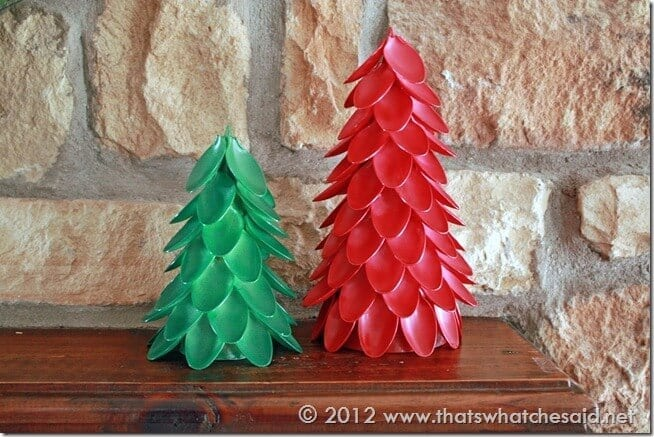 Make Things For Home Plastic Spoon Christmas Trees