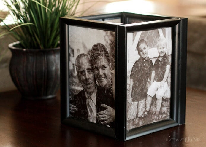 Picture Frame Luminaries during the day make great decor!