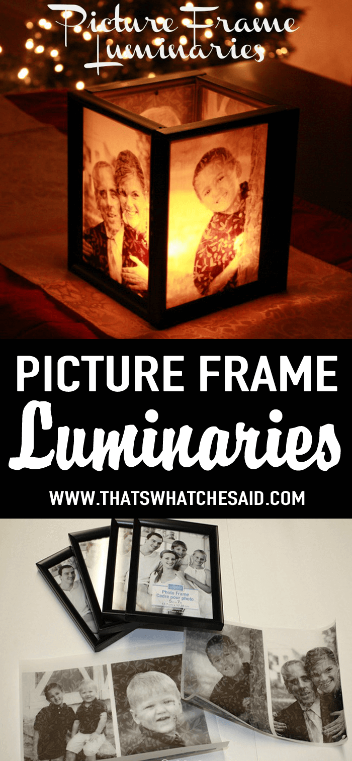 Picture Frame Luminaries At Thatswhatchesaid