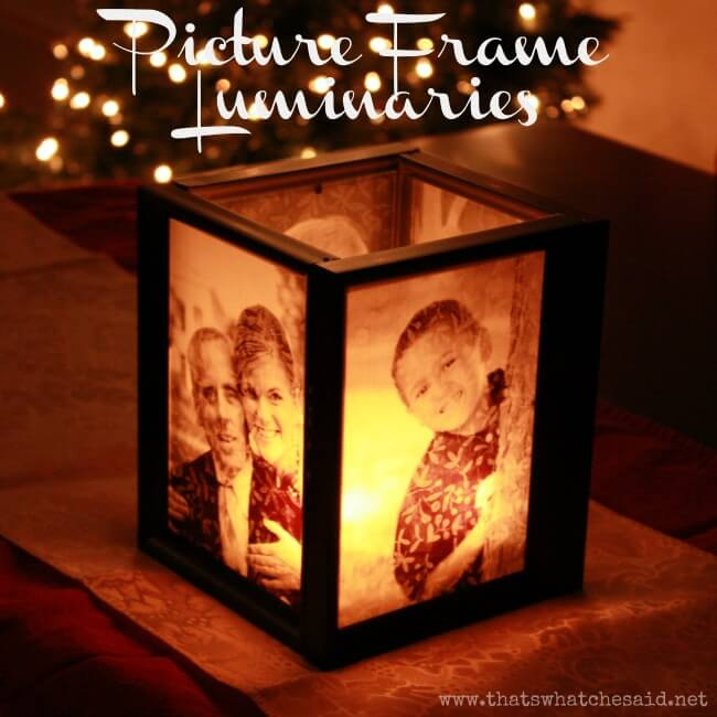 Picture Frame Luminaries. These make amazing gifts all year long!