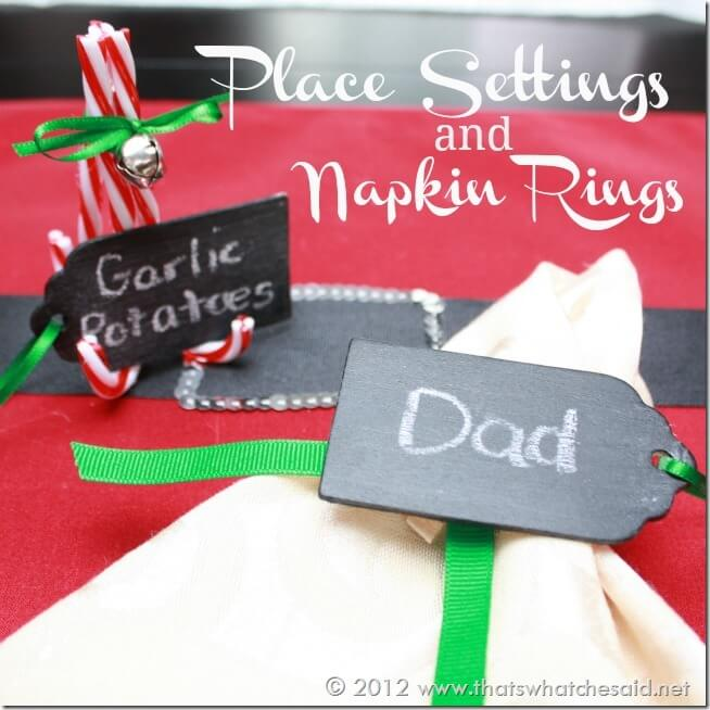 Place Settings and Napkin Rings