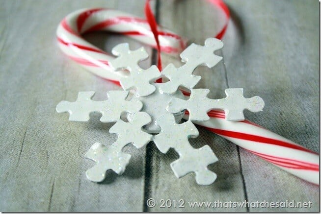 Puzzle Piece Snowflake Ornament at www.thatswhatchesaid.com
