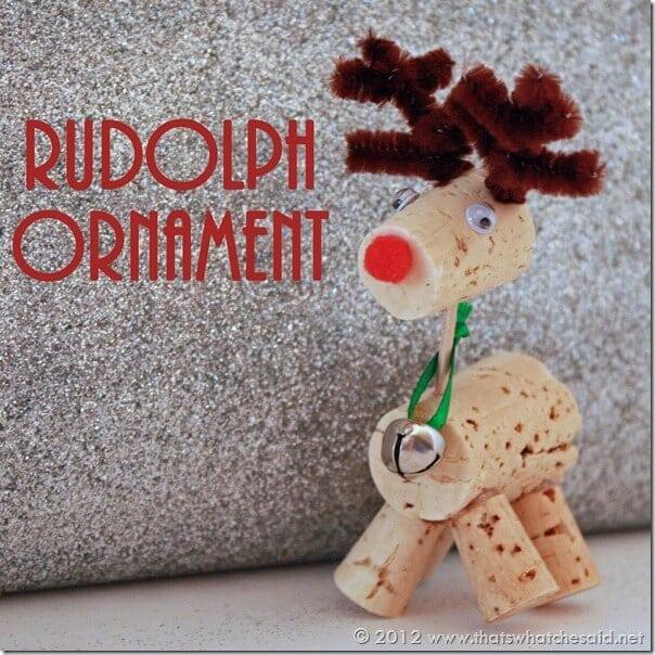 Ruldoph Ornament close up