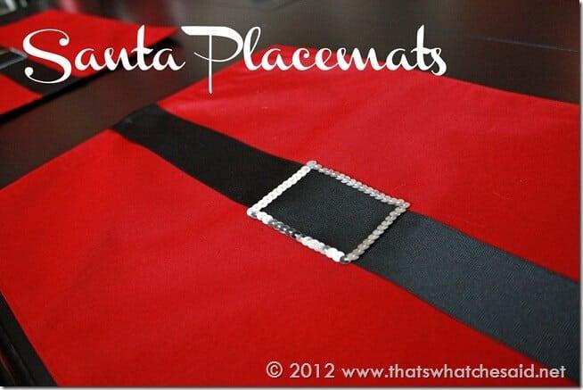 Santa Placemats