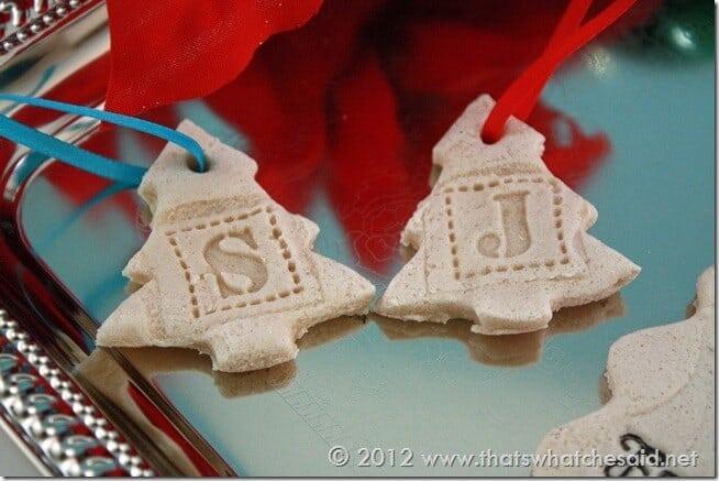 Tree salt dough ornaments
