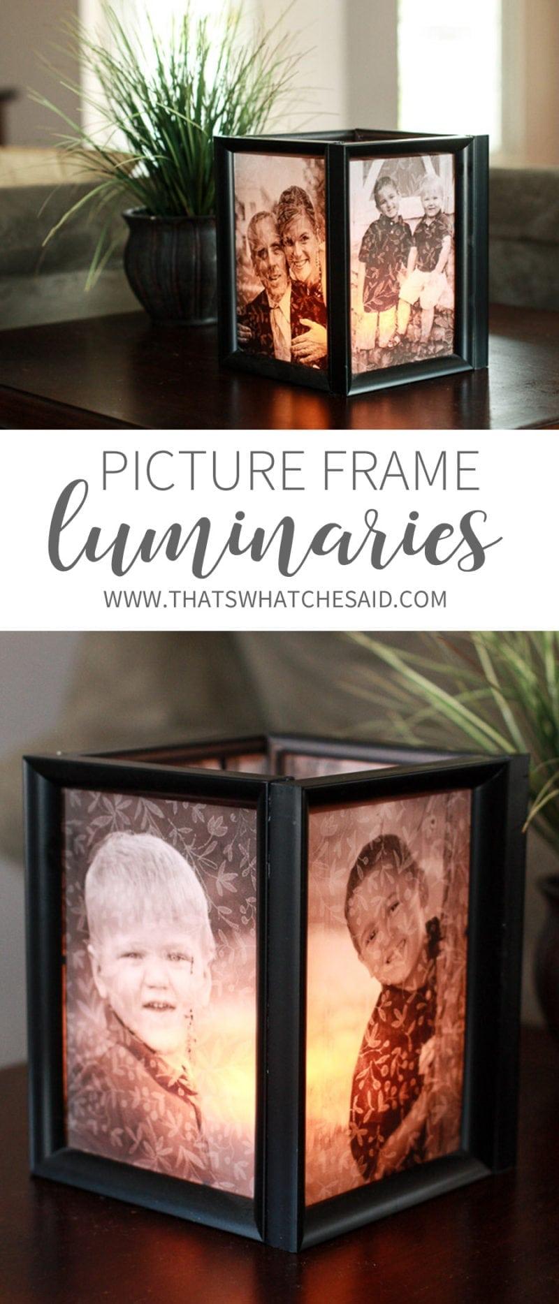 diy photo luminaries