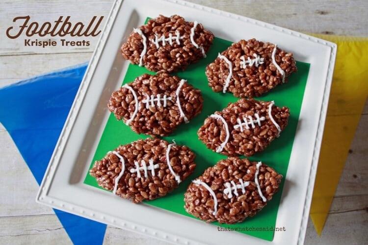 Football Rice Krispy Treats
