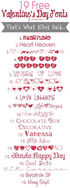 vintage valentine fonts