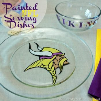Painted NFL Serving Dishes