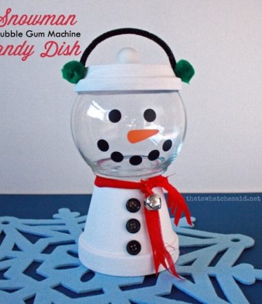 Snowman Clay Pot Candy Dish