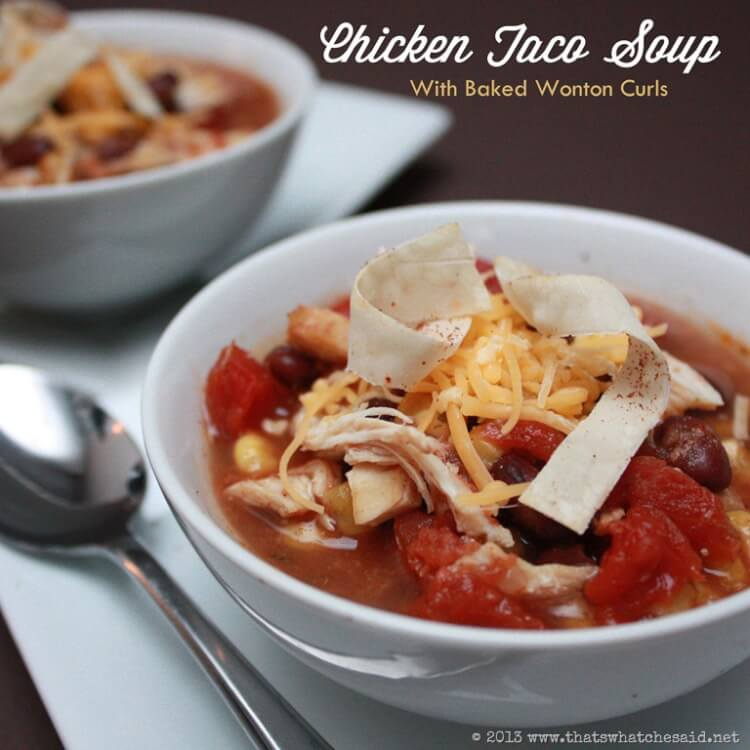 Crock Pot Chicken Taco Soup