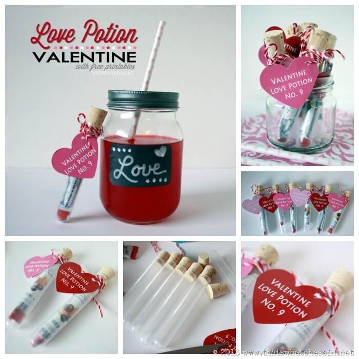 Diy Love Potion Valentines