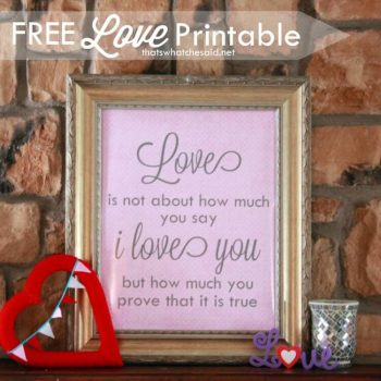 Free Printables – Love is