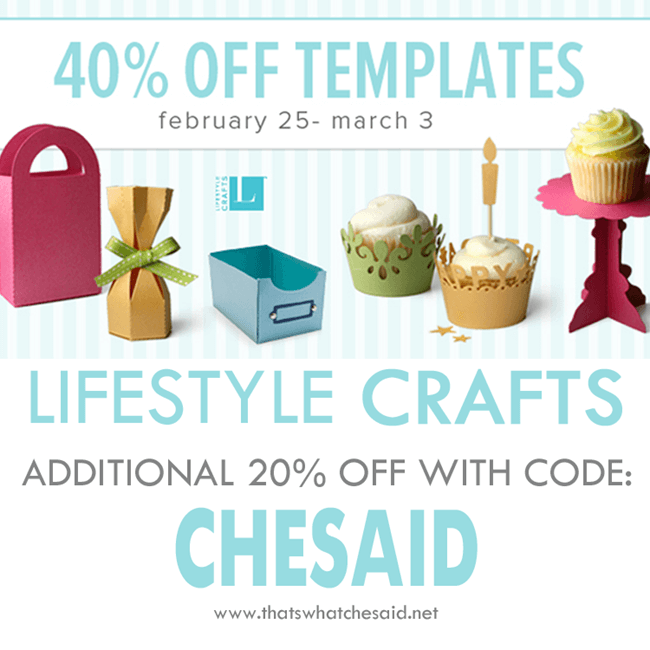 Lifestyle Crafts Template Die Sale