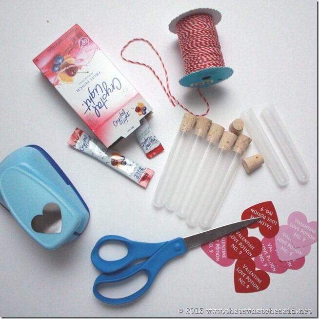 Love Potion Valentine Supplies
