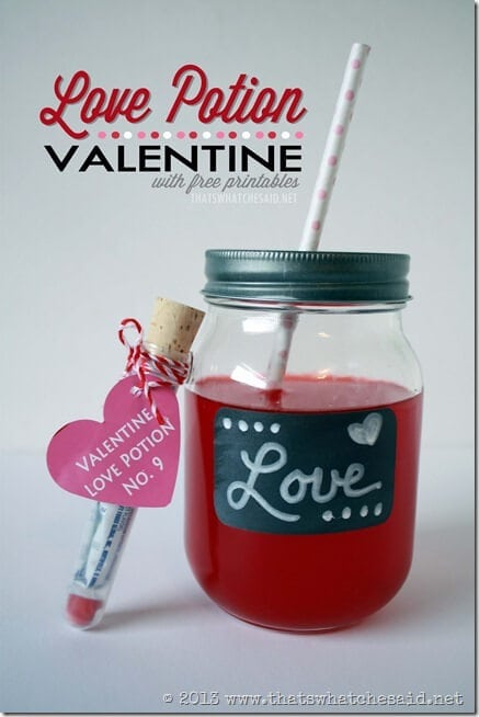 Love Potion Valentine with Free Printables