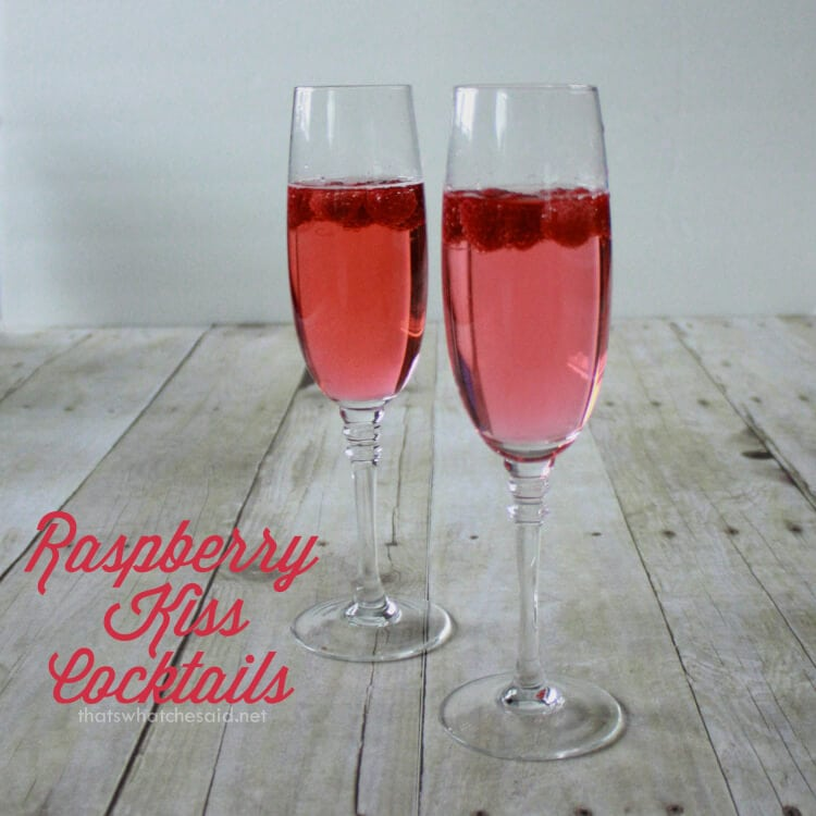 Raspberry Kiss Vodka Cocktail