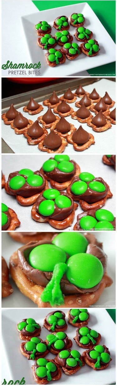 Shamrock Pretzel Bites Step by Step!