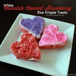 Chocolate Covered Strawberry Rice Krispie Treats