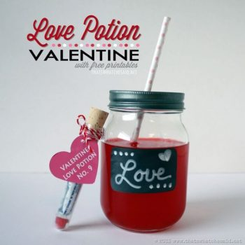 Love Potion Valentine Idea – Free Printable