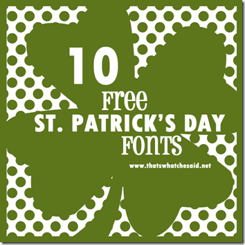 10 Free St. Patrick's Day Fonts