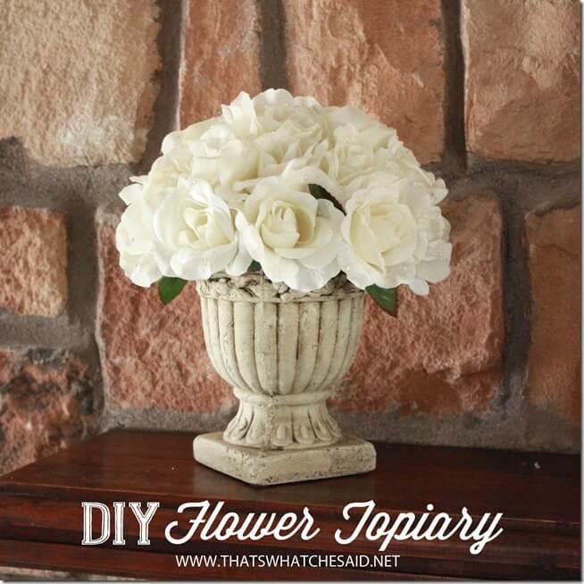 DIY Flower Topiary Tutorial