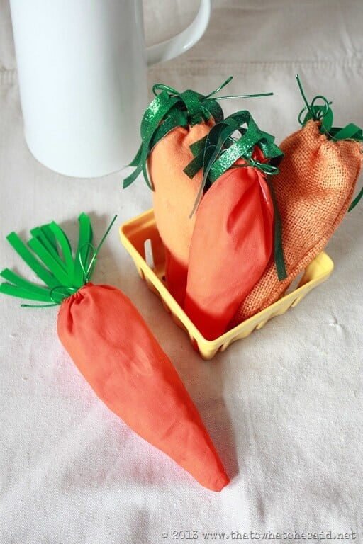 Easter Carrot Treat Bags