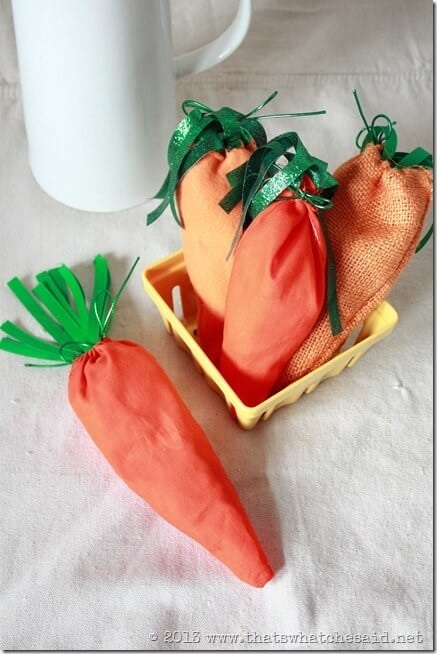 Fabric Carrot Treat Bags
