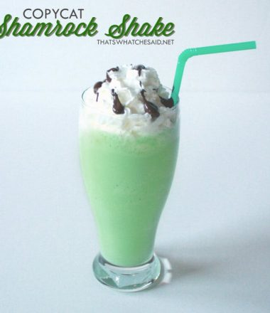 copycat Shamrock Shake