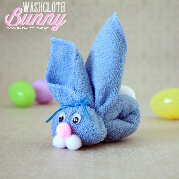 Non Candy Easter Basket Idea - Washcloth Bunny