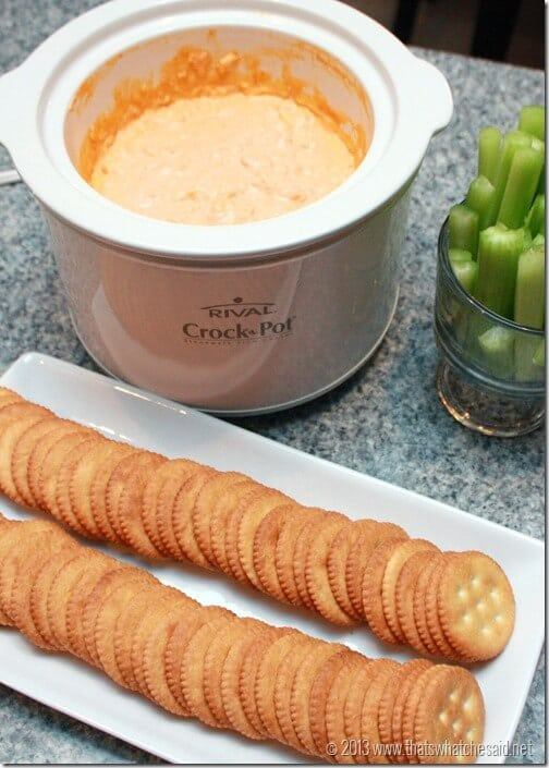 Buffalo Chicked Crock Pot Dip at thatswhatchesaid.net