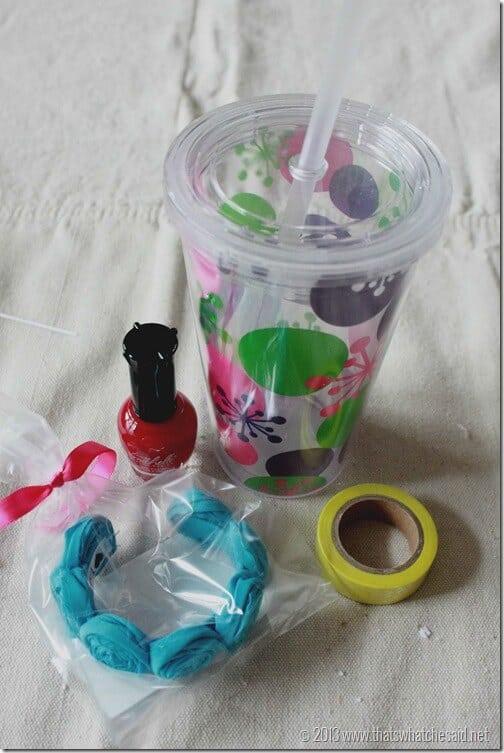 Cup polish rosette cuff bracelet washi tape