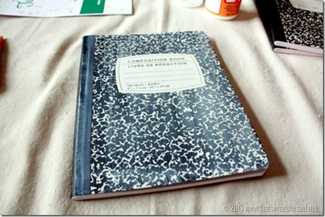 Custom Notebook in Mod Podge