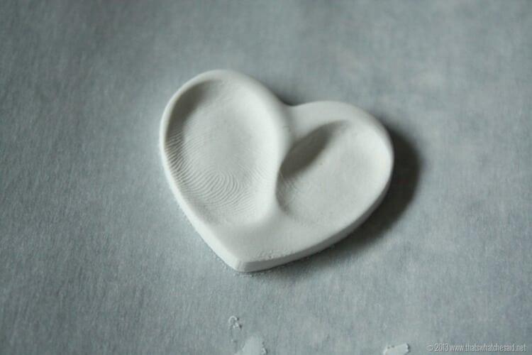 Thumbprint charm heart necklace diy gift wrap easy diy heart thumbprint charms at thatswhatchesaid aloadofball Images