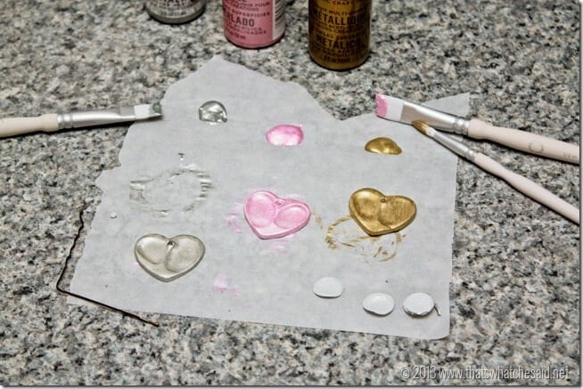 Easy DIY Heart Thumbprint Charms at www.thatswhatchesaid.com