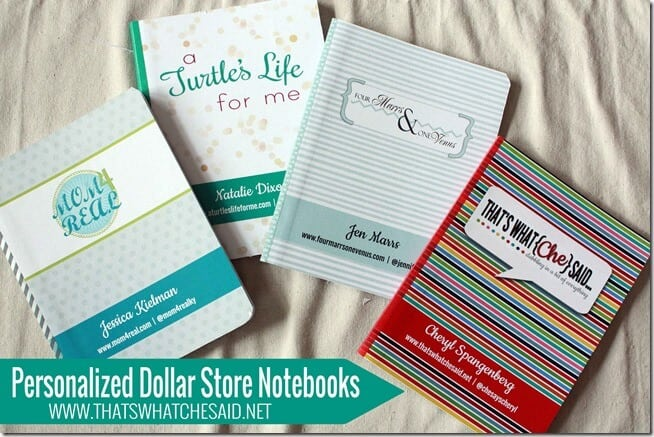 Personalized Dollar Store Notebooks at thatswhatchesaid.net