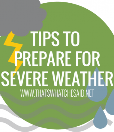 Severe Weather Tips from www.thatswhatchesaid.net