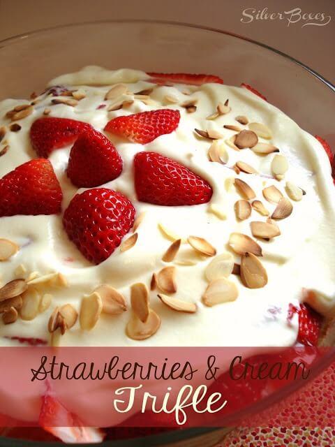 strawberry and peach cream trifle strawberry and peach cream trifle ...