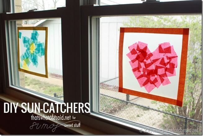 diy suncatchers from thatswhatchesaid