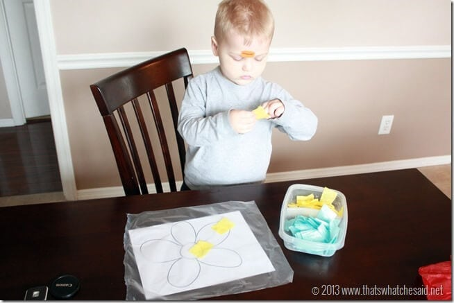making a sun catcher at thatswhatchesaid